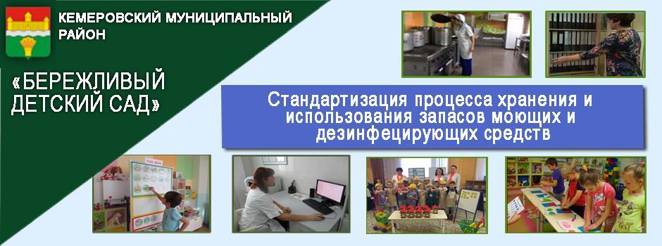 Стандартизация процесса хранения и использования запасов моющих и дезинфецирующих средств