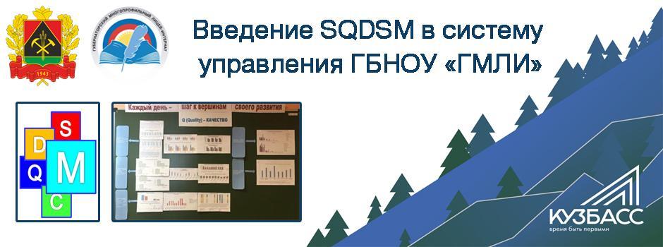Введение SQDCM в систему управления ГБНОУ «ГМЛИ»